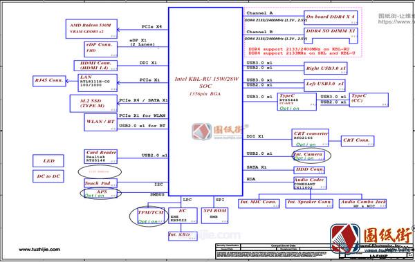 Lenovo V130-14IKB LA-F486P ELMV2 REV 0.1联想笔记本原理图