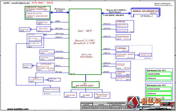 Lenovo G40-70 & G50-70 ACLU1 ACLU2 NM-A271 rev1.0联想笔记本图纸