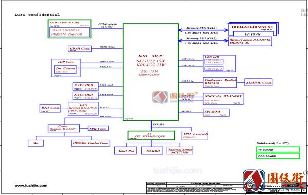 Lenovo 110-17IKB DG710 NM-B031 Rev 0.1联想笔记本图纸