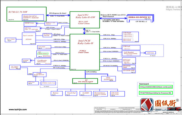 Legion Y520-15IKBA DY515 DY516 NM-B281 Rev 1.0拯救者笔记本图纸