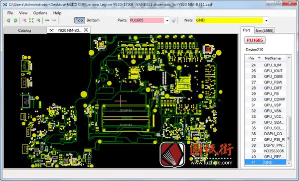 Legion Y920-17IKB DS321 NM-B311联想拯救者笔记本点位图