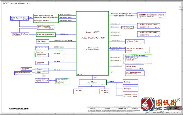 Legion Y920-17IKB NM-B311 Rev 0.2 0.3联想拯救者笔记本电路图