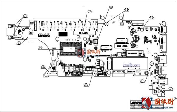 ThinkPad X280 FN1KR-2 EX280 NM-B521 Rev 0.3联想笔记本点位图PDF