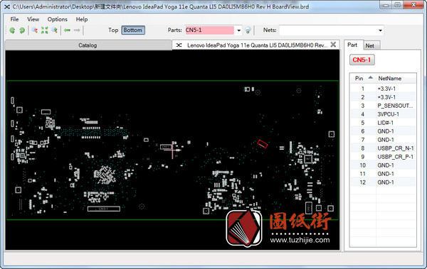 Lenovo Yoga 11E Quanta LI5 DA0LI5MB6H0 Rev H联想笔记本点位图