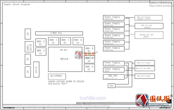GeForce GTX 1070Ti PG411 Rev A00显卡电路原理图纸