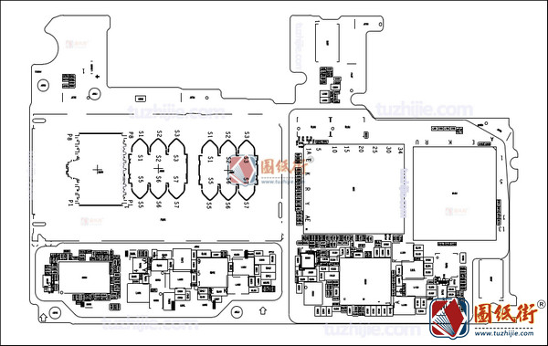 华为畅享8Plus主板元件位号图