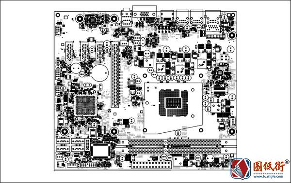 Dell OptiPlex 3010 MIH61R 10097-1 REV. 1戴尔电脑主板点位图PDF