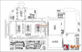 华为荣耀8C/honor 8c Bkk-L21&L22主板元件位号图