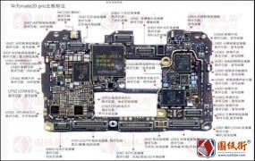 华为Mate20Pro注释图主板元器件位置图维修彩图