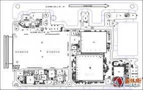 华为Nova3 HL2PARM VER.C主板元件位号图