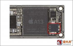iPhone 11 点阵投影器控制IC对地阻值