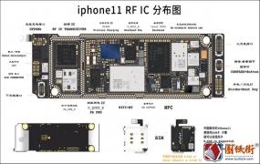 苹果iPhone11 RF IC 主板元件分布图