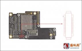 iPhone11Pro前置摄像头接口座对地阻值