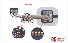 iPhone6s home键接线飞线图及主要电压及阻值