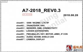 Samsung A7 SM-A750F A750FN A750G A750GN三星手机维修图纸+位号图