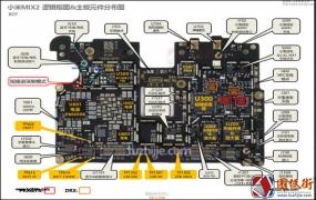 小米MIX2 注释图 主板元件分布图