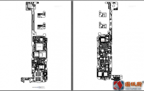 小米10手机维修电路原理图纸+主板元件位号图