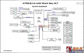 Asus X750LA X750LB Rev 1.1华硕笔记本图纸