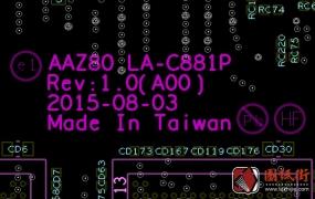 DELL XPS 13 9350 AAZ80 LA-C881P REV 1.0戴尔笔记本点位图