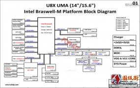 HP 15-f233wm Quanta U8C DA0U8CMB6B0 Rev 1A惠普笔记本图纸